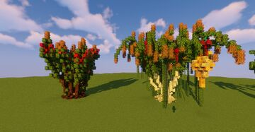 12 Awesome Custom Tree Designs Minecraft Map & Project