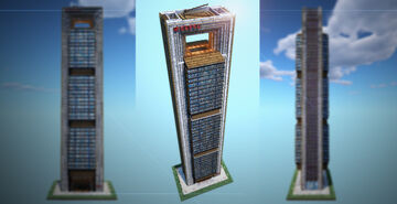 Foster Tower – Spain's second tallest! Minecraft Map & Project