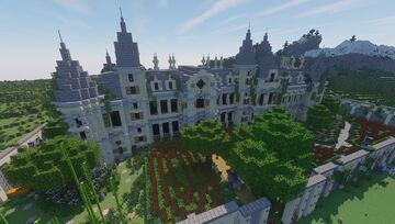 Sandstone Palace | detailed Interior and exterior Minecraft Map & Project