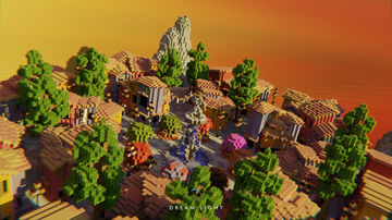 Lovely Sunset Spawn Minecraft Map & Project