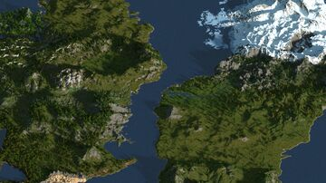 Two continents 4000x4000 [worldpainter] Minecraft Map & Project