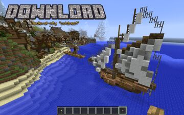 Medieval fishingboat. The perfect decoration for your harbour Minecraft Map & Project