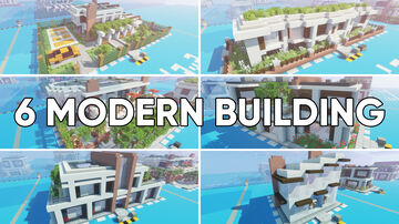 6 Modern Buildings Minecraft Map & Project