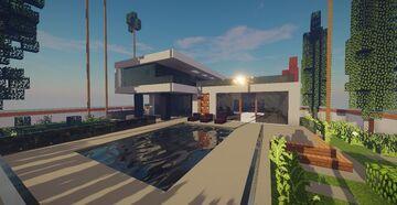 Modern House #8 + Schematics Minecraft Map & Project