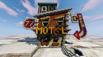 Towny Style Old Motel  [Schematic Download] Minecraft Map & Project