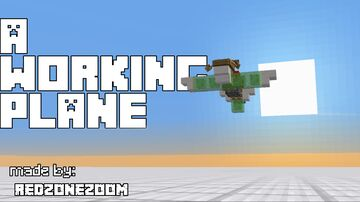 a working plane! Minecraft Map & Project