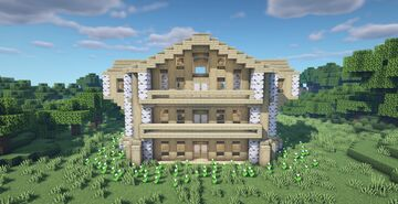 Large Birch Wooden House Minecraft Map & Project