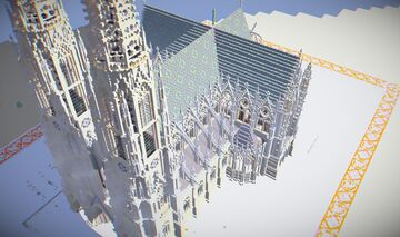 Neo-Gothic Cathedral (Vienna 1879) Minecraft Map & Project