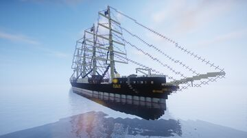 four-masted barque Tilsit Minecraft Map & Project