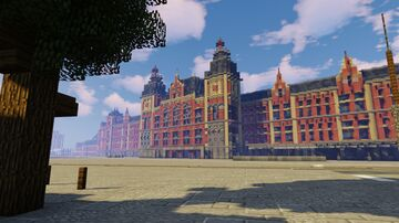 Amsterdam Central Station (1:1) Minecraft Map & Project