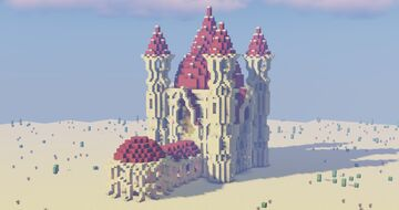 Small Desert Palace / Mosque Minecraft Map & Project