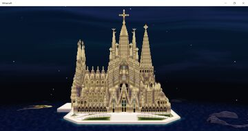 La Sagrada Familia Minecraft Map & Project