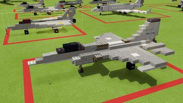 F-16C Fighting Falcon Minecraft Map & Project