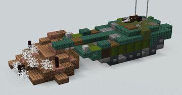 Stridsvagn 103(1.5:1 scale)  v2.0 Minecraft Map & Project