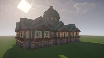 Copper Roof Mansion Minecraft Map & Project