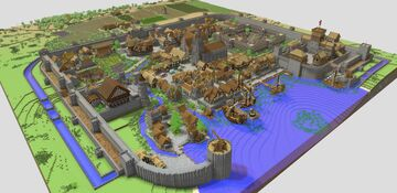 Medieval City - Praven (Mount and Blade) (Download) Minecraft Map & Project