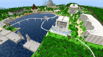 Jurassic World Map 2015 Isla Nublar Map 2015 v5 Map Minecraft Bedrock PE Edition - Lake Area Finished June 2020 Minecraft Map & Project