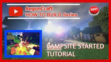 |MINECRAFT HOW TO BUILD CAMPSITE || START ENCAMPMENT | Minecraft Map & Project