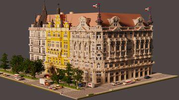 Minecraft Façades | Prague row buildings + DOWNLOAD (Schematic) Minecraft Map & Project