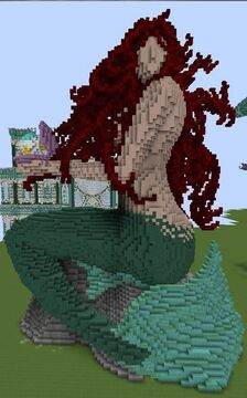 Mermaid Statue Minecraft Map & Project