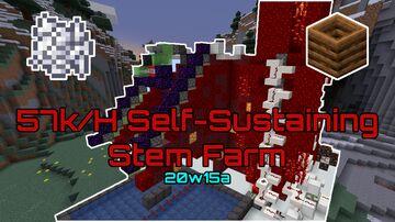 57k/hour Fully Self-Sustaining Stem Farm   20w15a Minecraft Map & Project