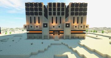 The Burning Desert - Cactus farm Minecraft Map & Project