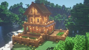 Simple survival base Minecraft Map & Project