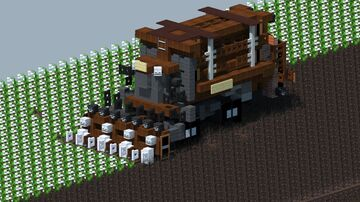 Case IH Module Express 635 Cotton harvester [With Download] Minecraft Map & Project