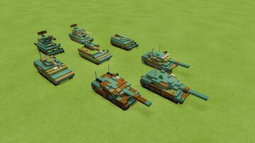 German Armor (collection of Bundeswehr vehicles) Minecraft Map & Project