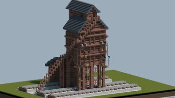 Railroad coaling tower [With Download} Minecraft Map & Project