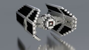 Star Wars - TIE Advanced X1 |  UPDATED  |  DOWNLOAD Minecraft Map & Project