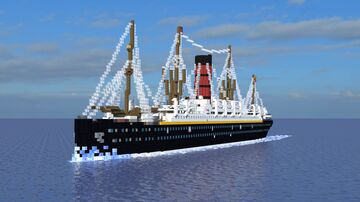 RMS Carpathia [1:1] [Exterior Only] Minecraft Map & Project