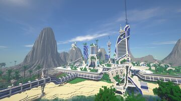SciFi City-30 Day Solo Build Minecraft Map & Project