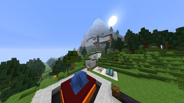 Volcano modern redstone house Minecraft Map & Project