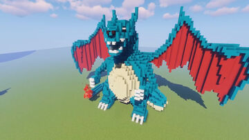🔥Shiny Charizard Statue Schematic + Download🔥 Minecraft Map & Project