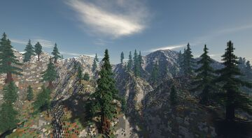 Spruce Mountain Ranges Custom Terrain Minecraft Map & Project