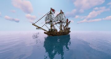English Race Built Galleon Minecraft Map & Project