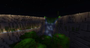 Spawn Waterfall Minecraft Map & Project