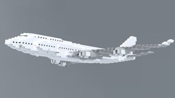 Boeing 747-400 (1:1 scale) Minecraft Map & Project