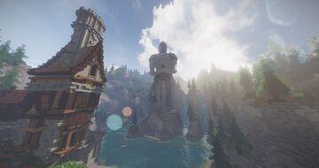 Minecraft Lobby - Knight statue, Spawn + parkour Minecraft Map & Project