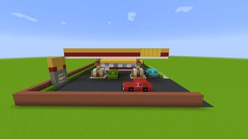 Shell Gas Station Minecraft Map & Project