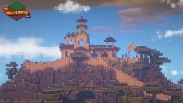 Romanesque Influenced Savannah House Minecraft Map & Project