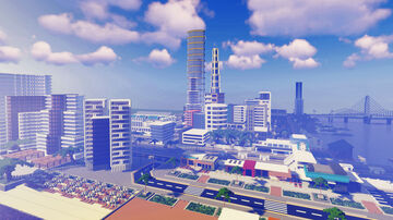 Large Modern City 1.0 (World Download) Minecraft Map & Project