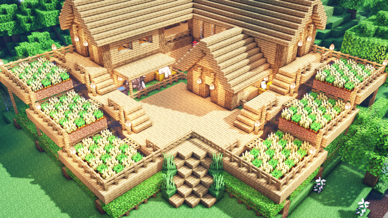 Minecraft: How To Build a Large Oak Survival House ...