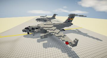 C-17 Globemaster III (Revised Edition) Minecraft Map & Project