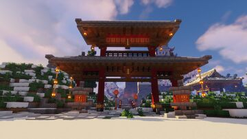 Snowy Japanese castle Minecraft Map & Project