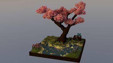 ♡ Spring Bonsai ♡ Minecraft Map & Project