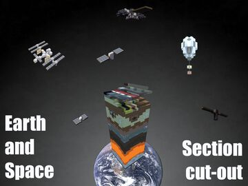 Earth and Space Section Cut-Out Minecraft Map & Project