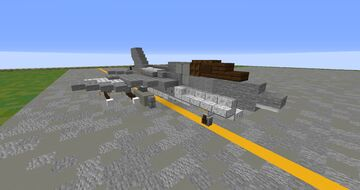 A-7 Corsair II Minecraft Map & Project