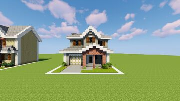 1-Chunk Suburban House 5 [DOWNLOAD] Minecraft Map & Project